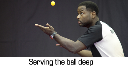 Table Tennis Serves – Serving Deep