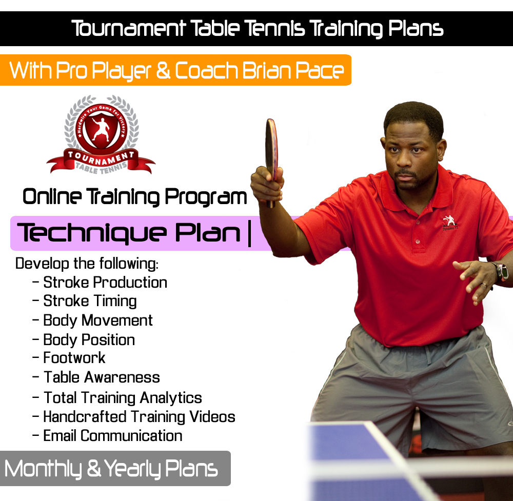 table tennis tournament template - table tennis online training technique plan